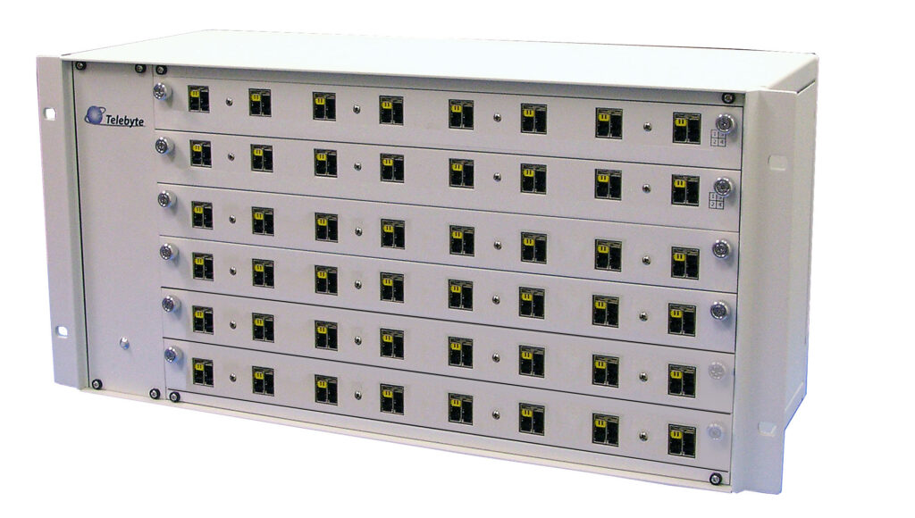 Telebyte Model 600 Series switches for automation of 10BASE-T1L device testing, including PoDL.